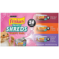 Friskies Savory Shreds In Gravy Variety Pack Canned Cat Food