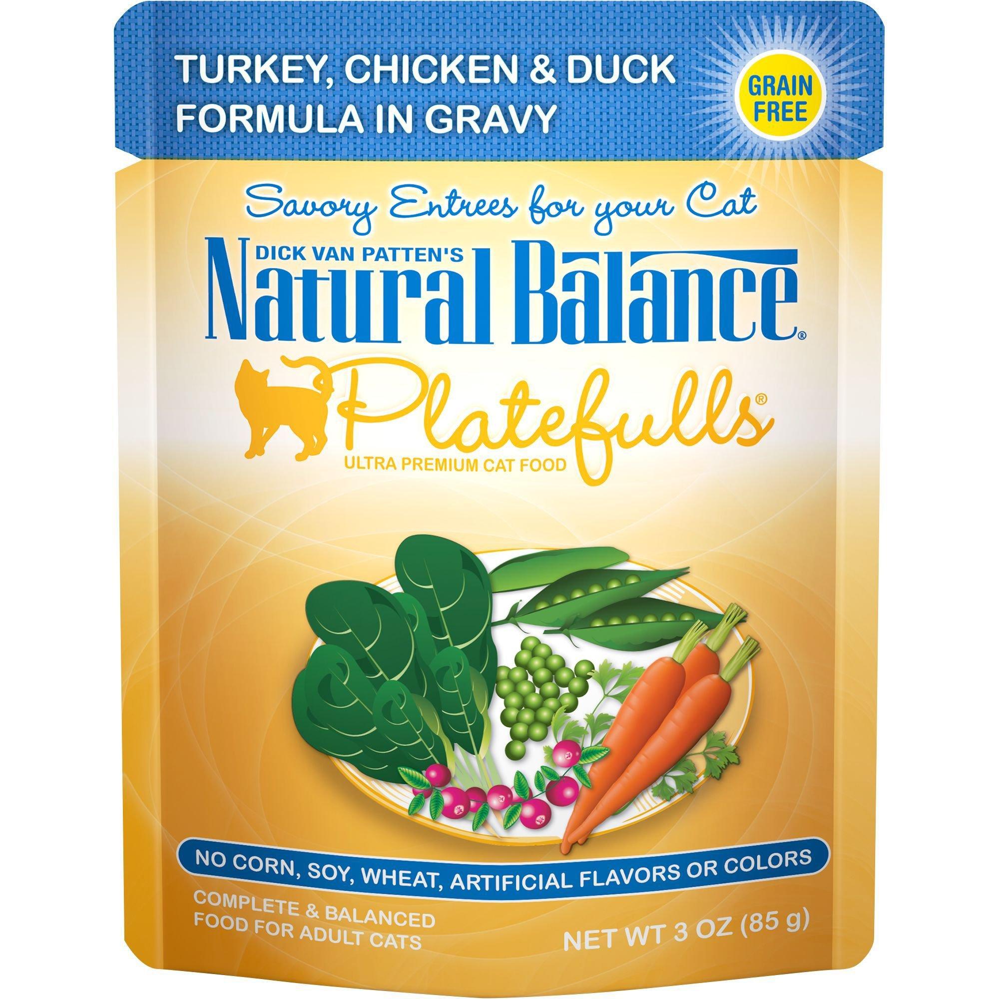 Natural Balance Platefulls Turkey, Chicken & Duck Adult Cat Food