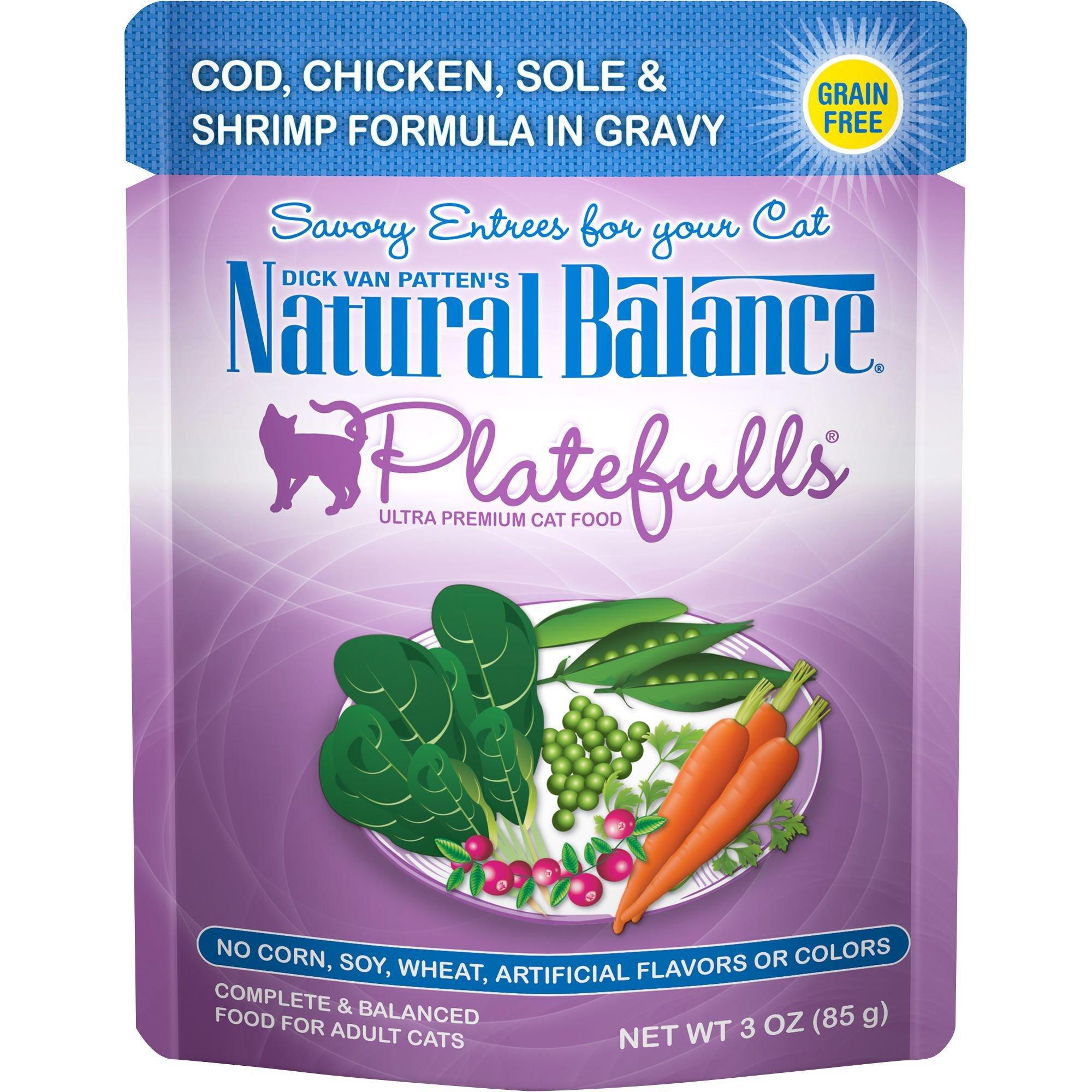 Natural Balance Platefulls Cod, Chicken, Sole & Shrimp Adult Cat Food