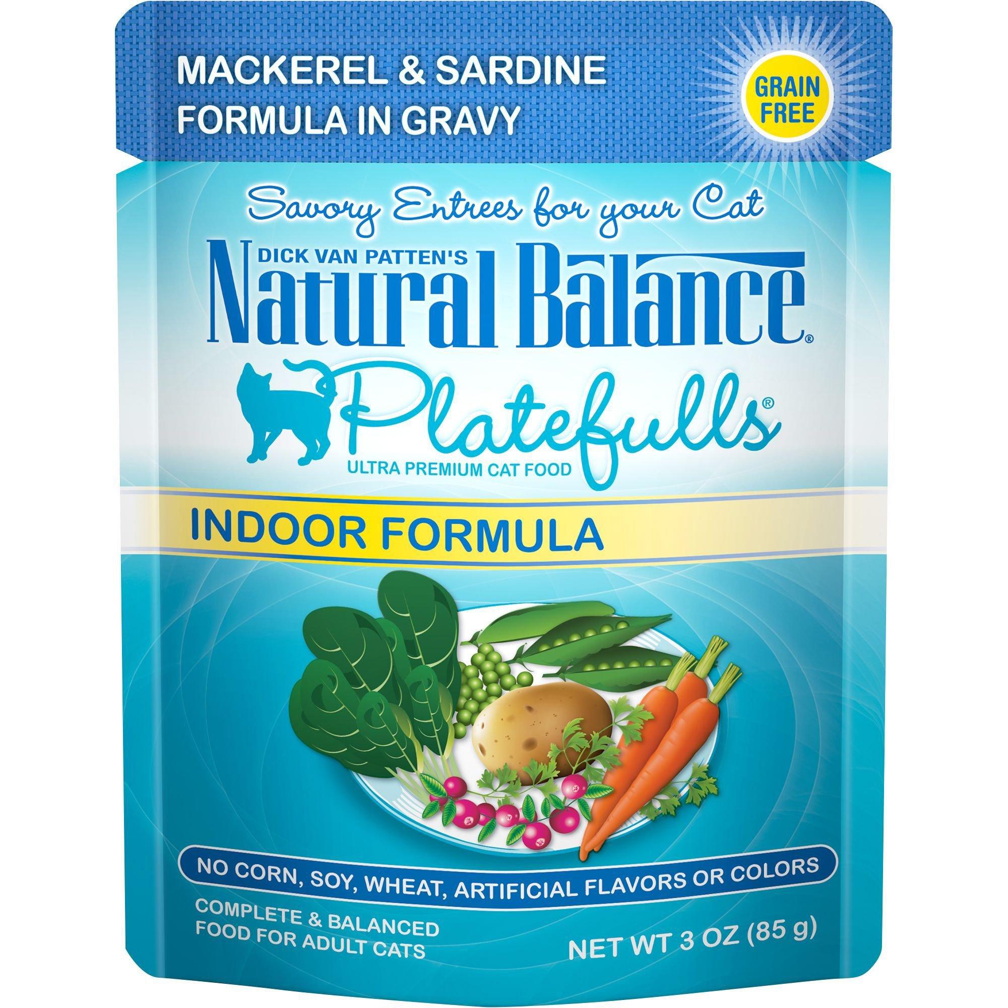 Natural Balance Platefulls Mackerel & Sardine Indoor Adult Cat Food