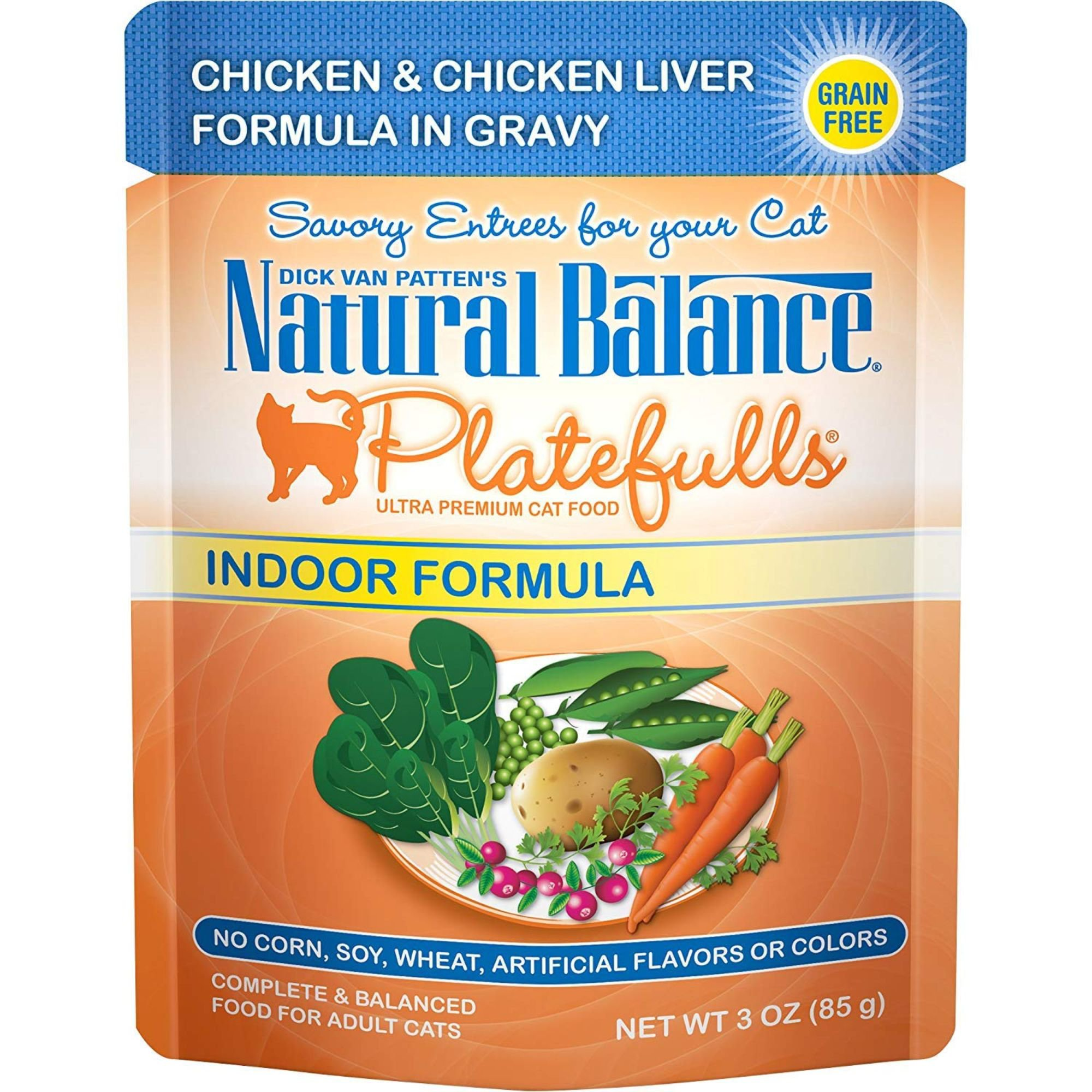 Natural Balance Platefulls Chicken & Chicken Liver Indoor Adult Cat Food