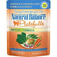 Natural Balance Platefulls Chicken & Chicken Liver Indoor Adult Cat Food