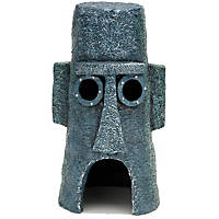 Penn Plax SpongeBob Squidward Easter Island Home Aquarium Ornament
