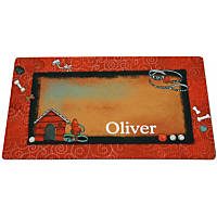 Drymate Bow Wow Red Personalized Pet Placemat