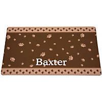 Drymate Brown & Tan Paw Border Personalized Pet Placemat