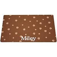 Drymate Brown & Tan Paw Print Personalized Pet Placemat