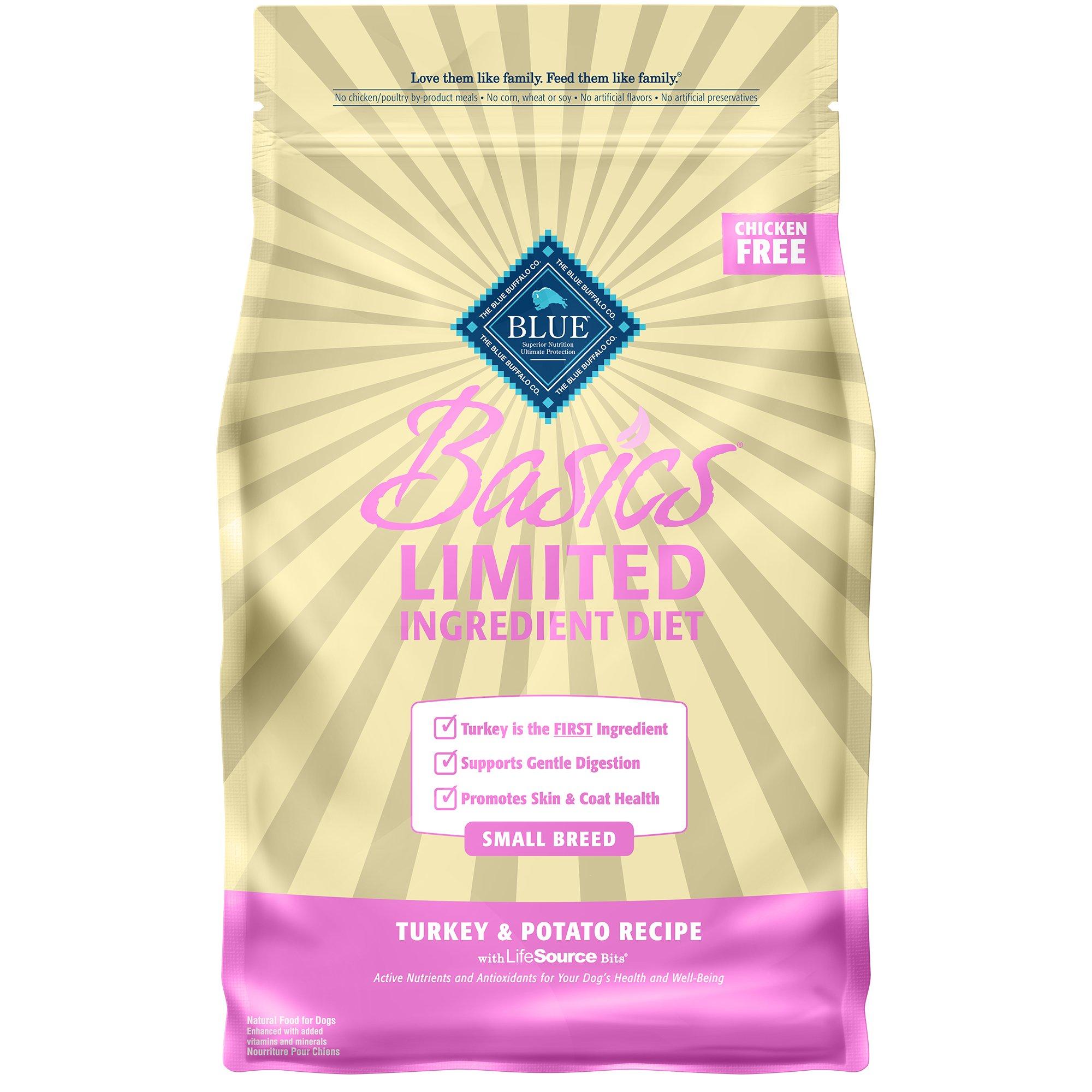 Blue Buffalo Small Breed Basics Limited Ingredient Formula Turkey & Potato Adult Dry Dog Food