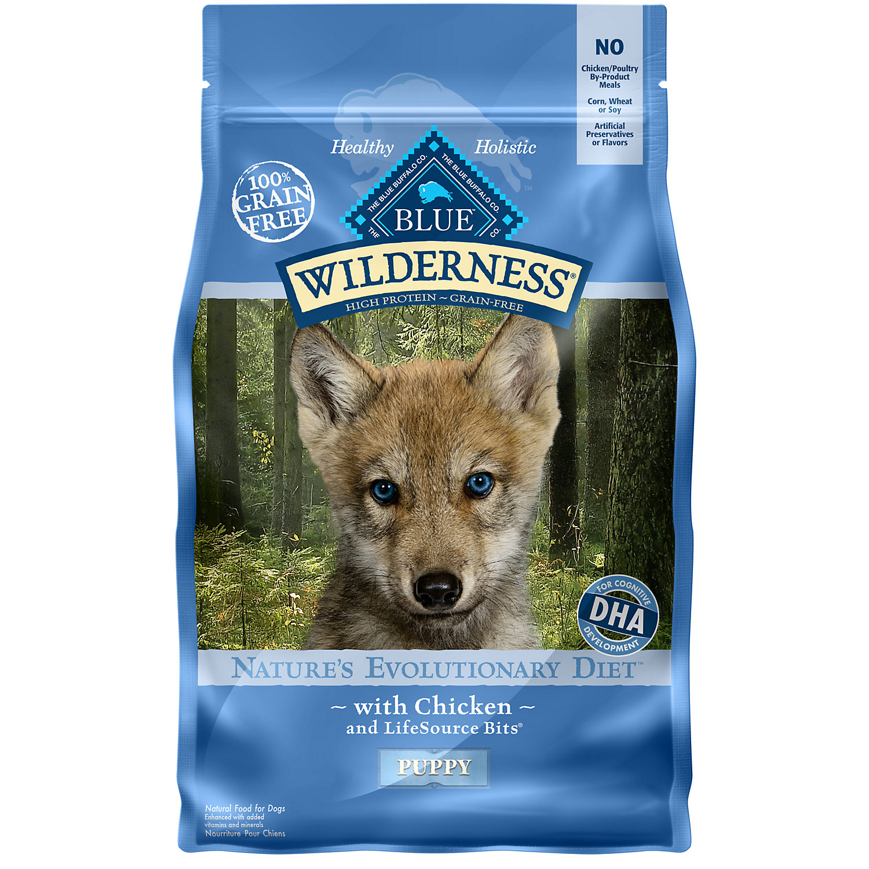Blue Buffalo Wilderness Chicken Dry Puppy Food, 4.5 lbs.