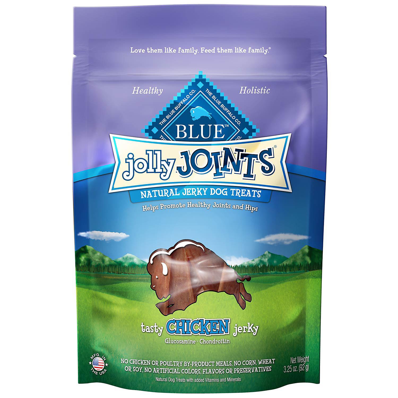 Blue Buffalo Jolly Joints Chicken Jerky Dog Treats 3.25 Oz.