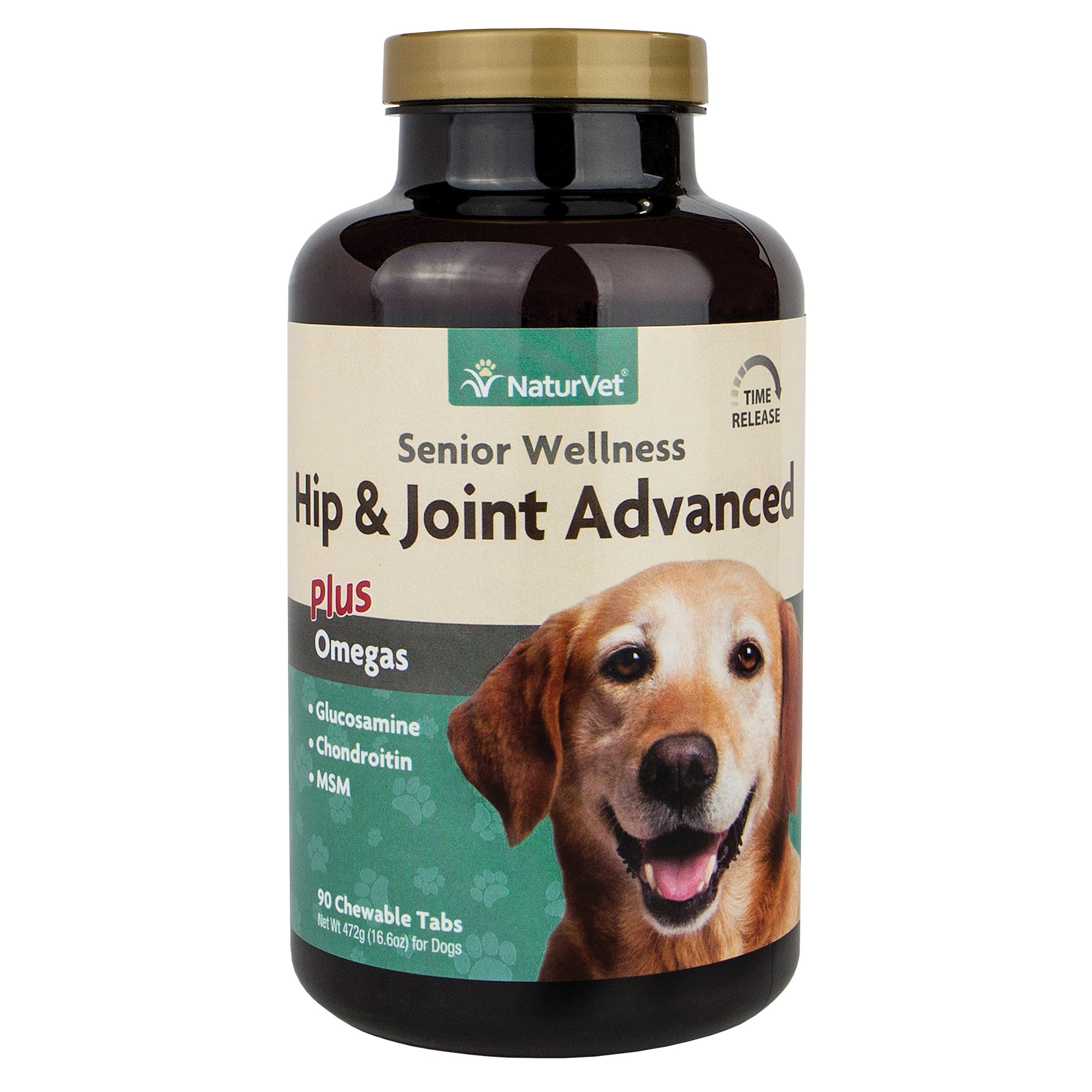 NaturVet Senior Joint Tablets Advanced Formula with Time Release for Dogs