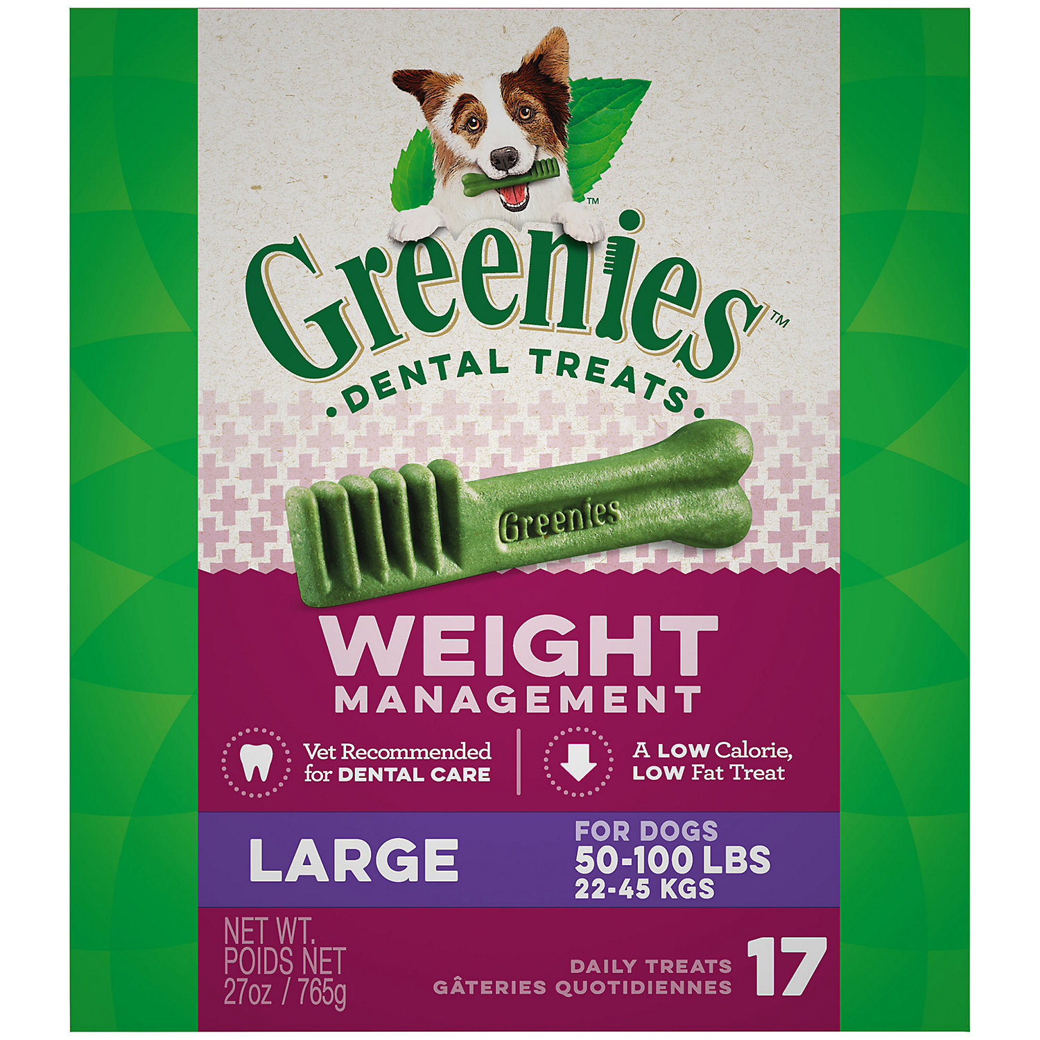 Greenies Weight Management Large Dental Dog Treats, 27 oz.,