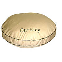 Carolina Pet Company Khaki Classic Twill Round-A-Bout Personalized Dog Bed