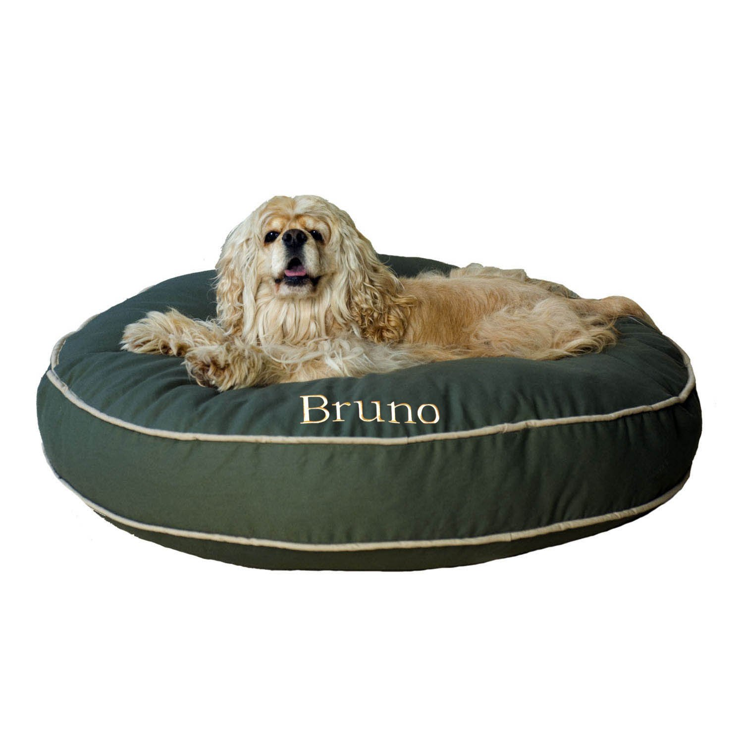 large monogrammed dog beds - noten animals