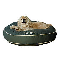 Carolina Pet Company Sage Classic Twill Round-A-Bout Personalized Dog Bed