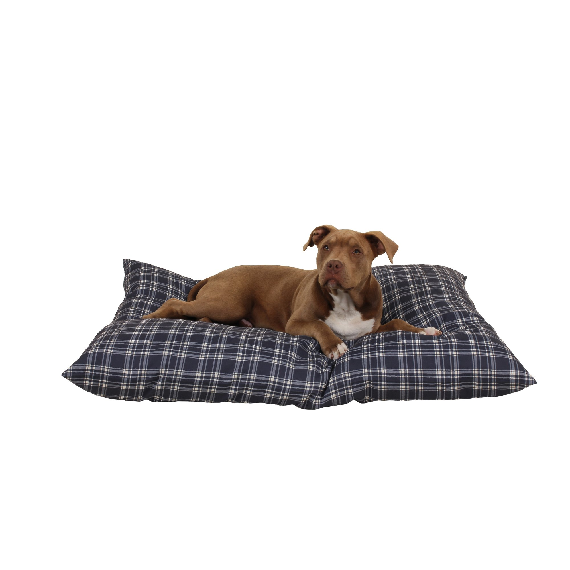 Carolina Pet Company Blue Plaid Indoor Outdoor Shebang Dog Bed