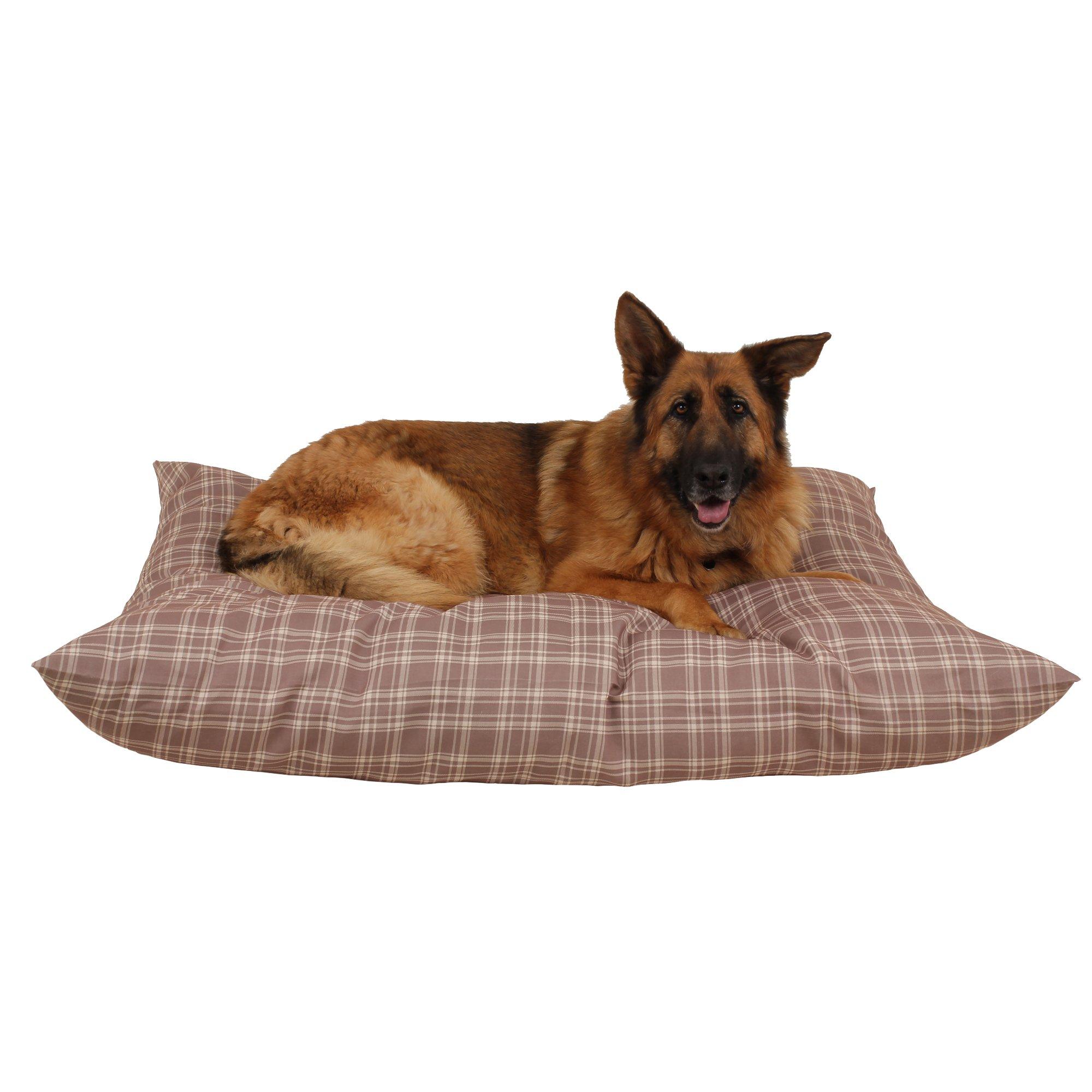 Carolina Pet Company Tan Plaid Indoor Outdoor Shebang Dog Bed