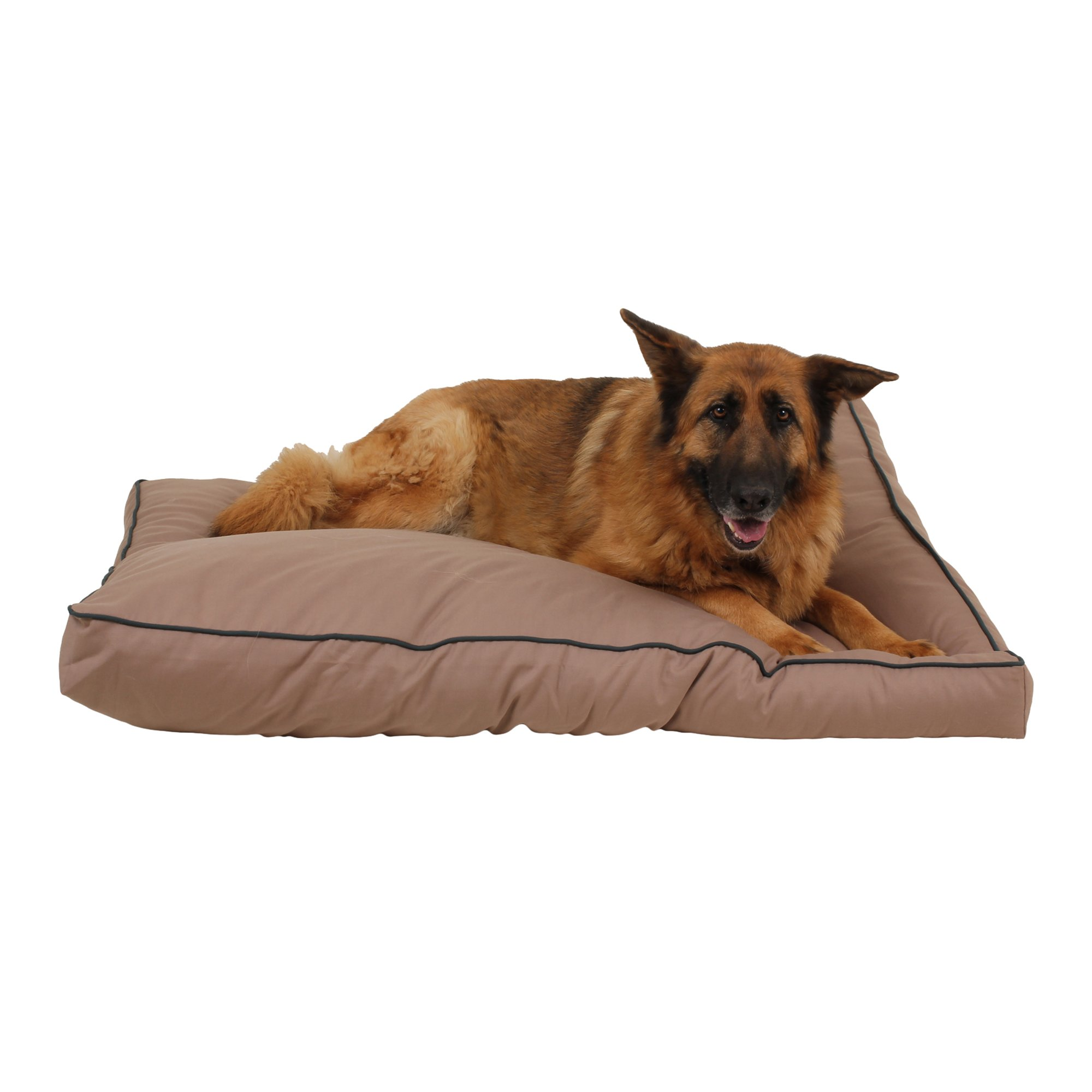 Carolina Pet Company Indoor Outdoor Jamison Tan Faux Gusset Dog Bed
