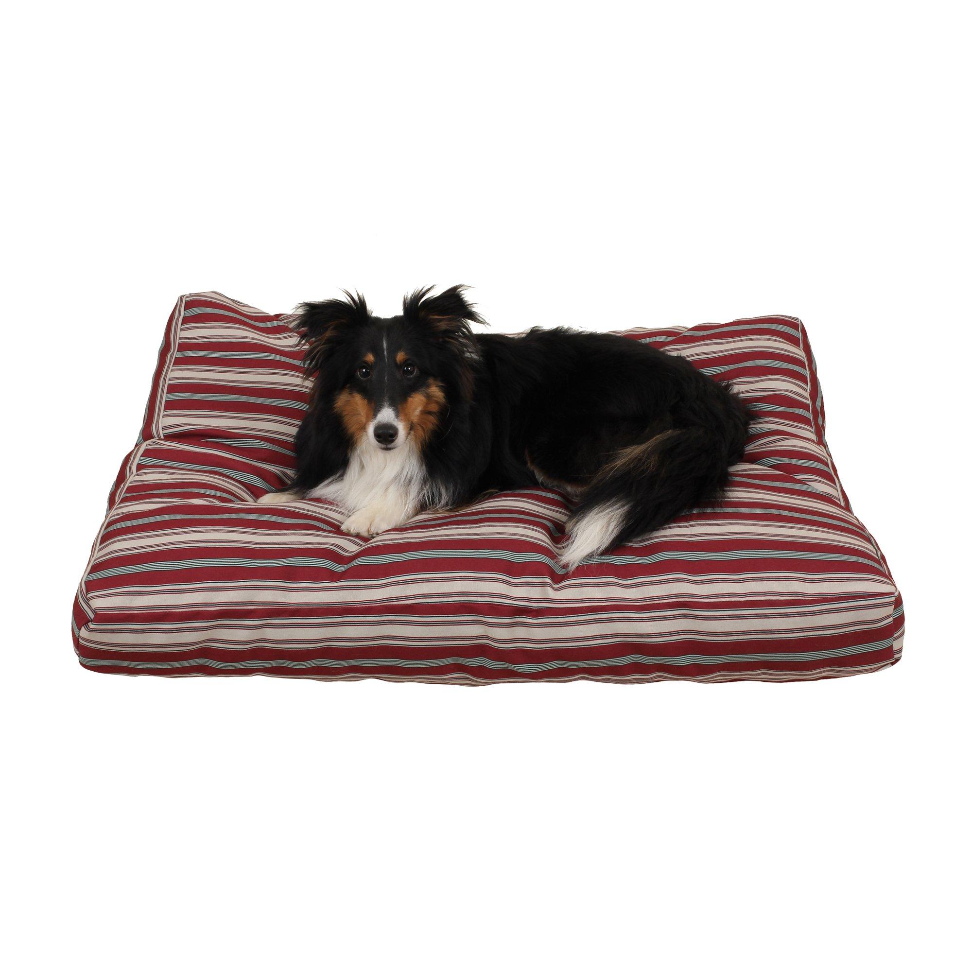 Carolina Pet Company Indoor Outdoor Jamison Red Striped Dog Bed