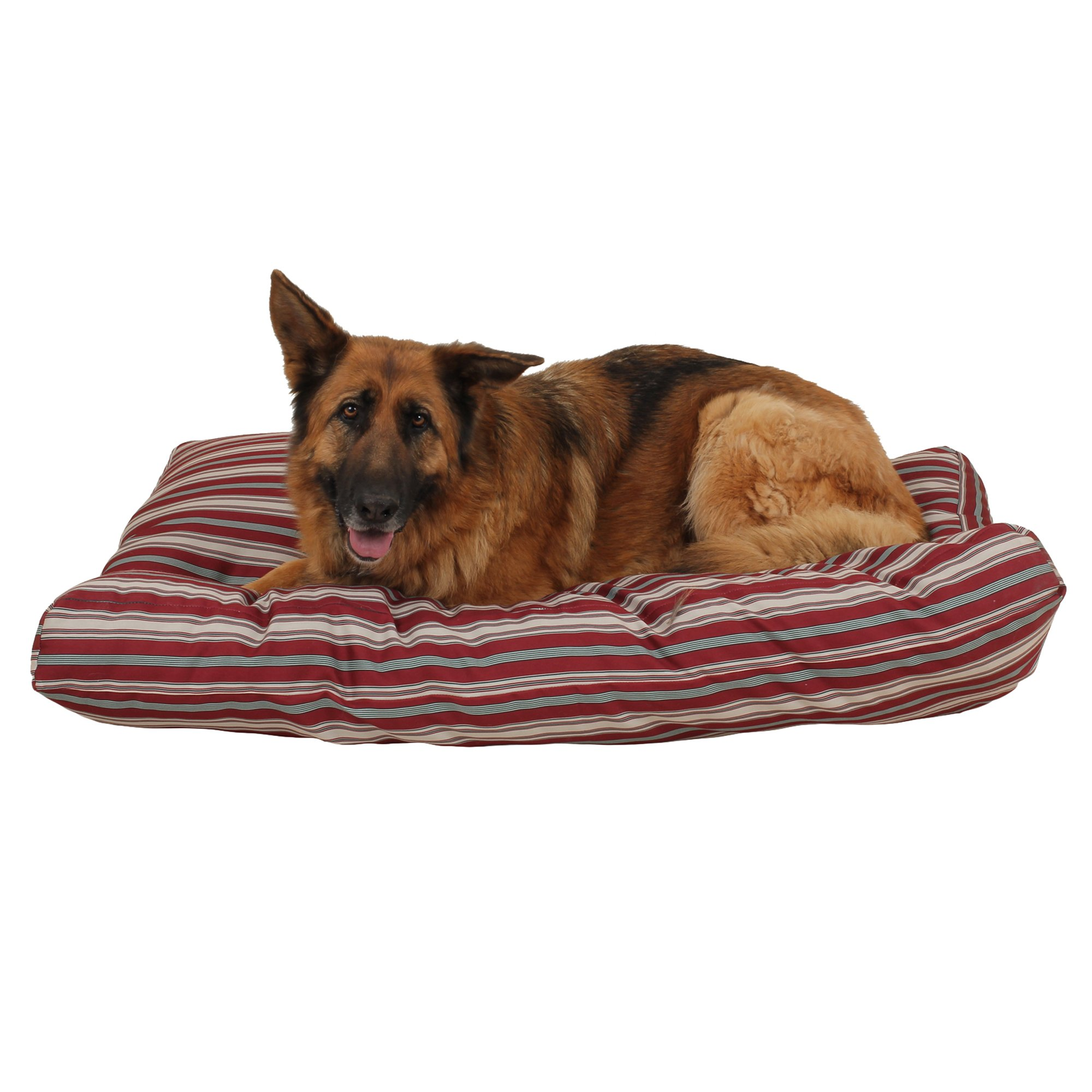 Carolina Pet Company Indoor Outdoor Jamison Red Striped Dog Bed