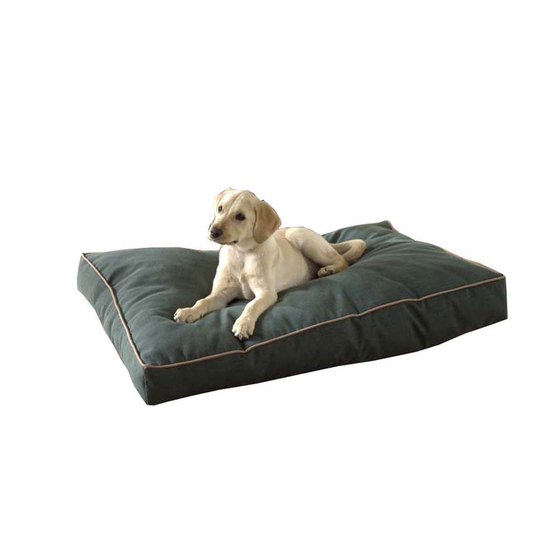 Carolina Pet Company Indoor Outdoor Jamison Green Faux Gusset Dog Bed