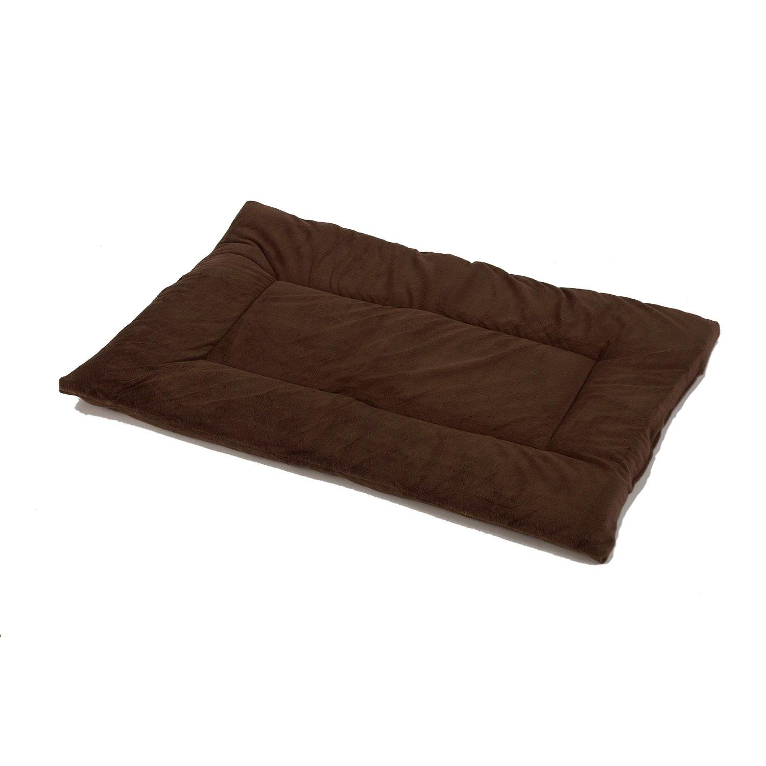Pet Dreams Plush Sleep-eez Cocoa Brown Reversible Dog Crate Pad