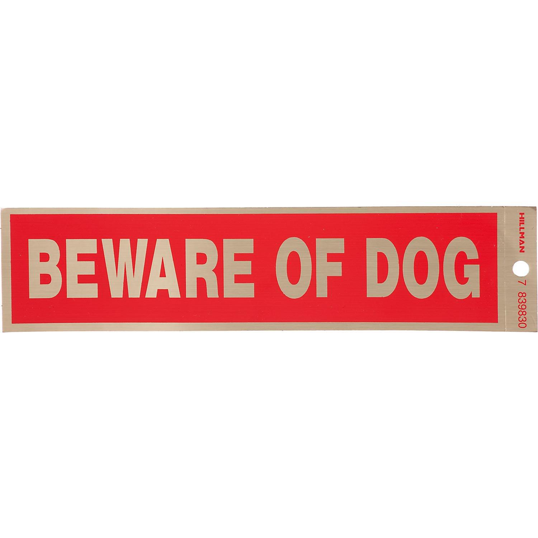 Hillman Sign Center -- Beware of Dog Decal