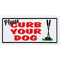 Hillman Sign Center -- Please Curb Your Dog