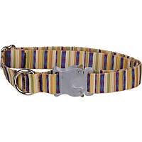 Bison Pet Bulldog Cabana Stripe Adjustable Dog Collar