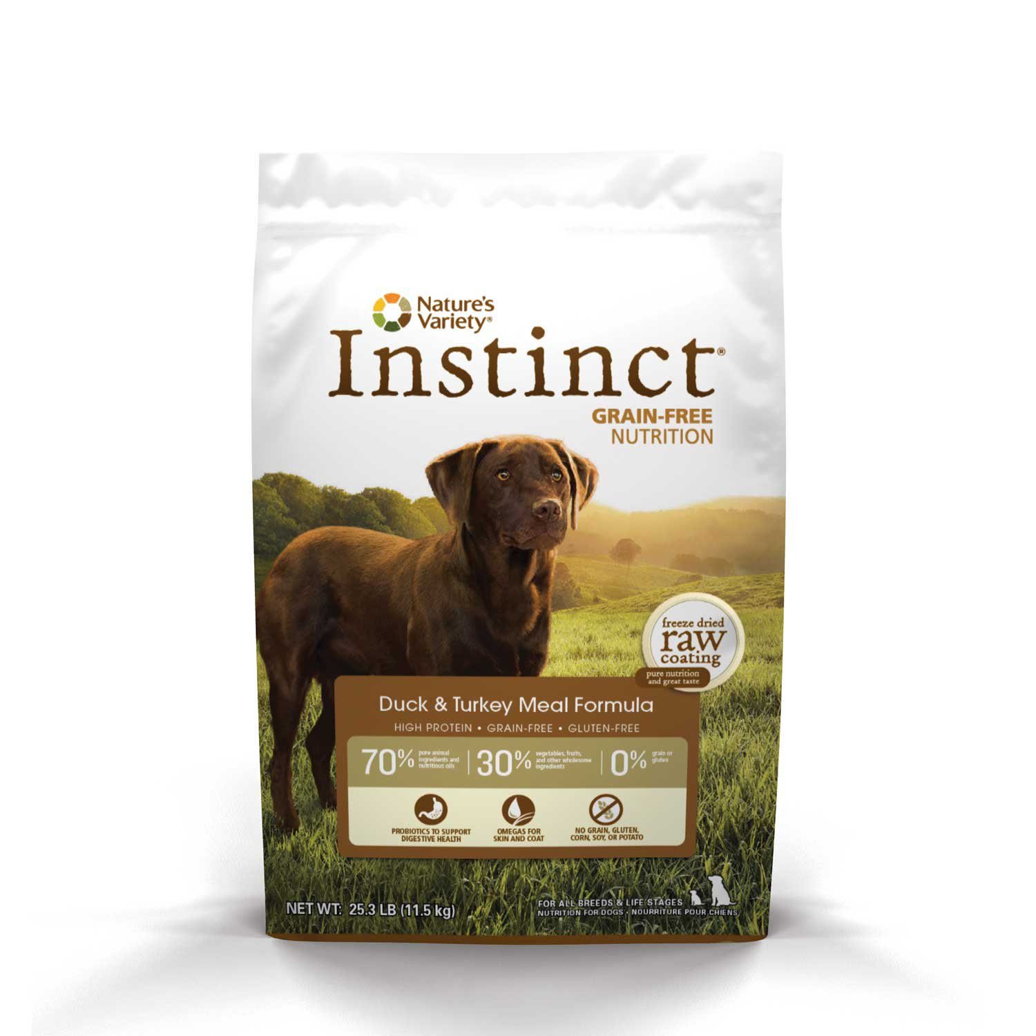Nature's Variety Instinct Grain-Free Duck & Turkey Meal Dog Food