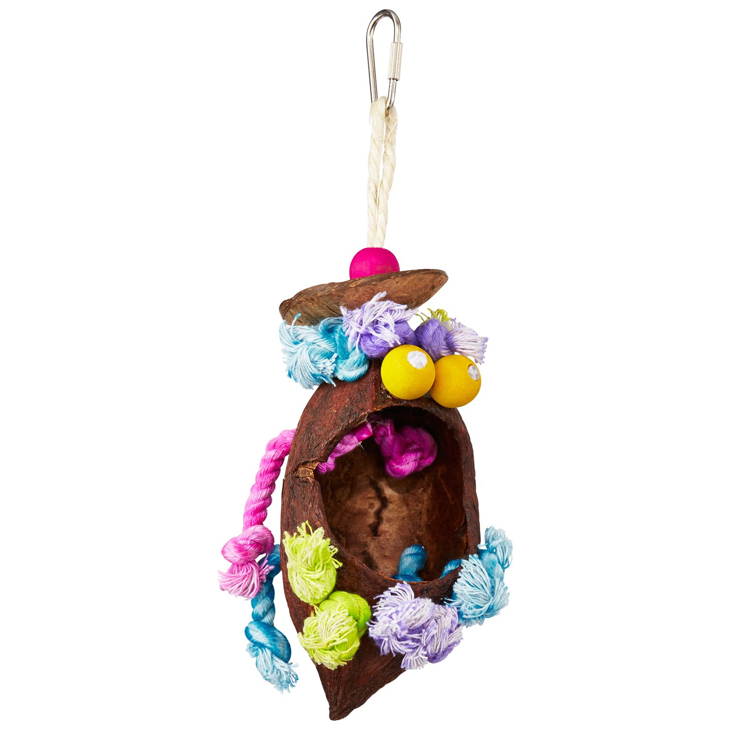 Prevue Hendryx Tropical Teasers Coconut Bird Toy