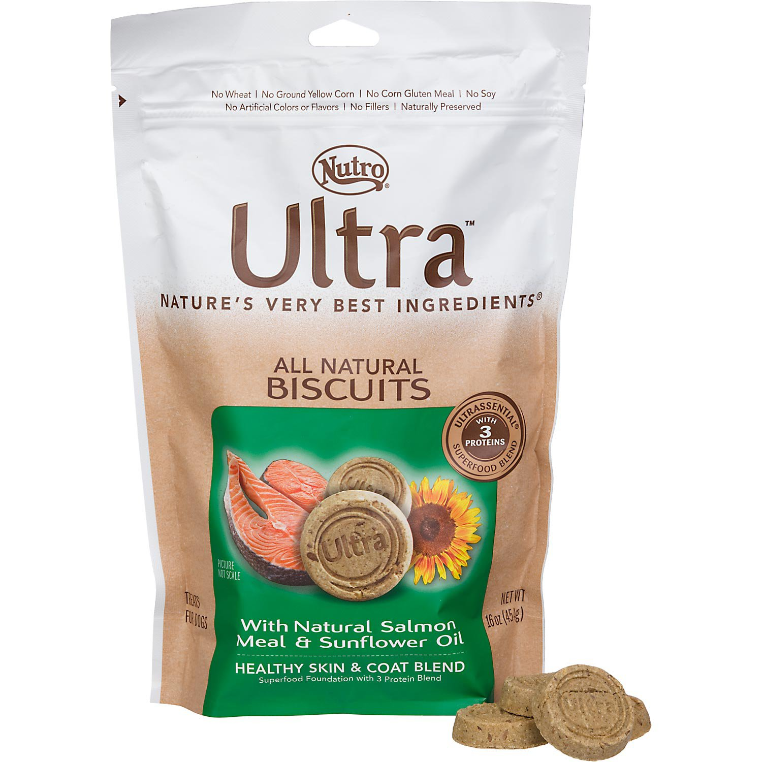 Nutro Ultra Healthy Skin & Coat Adult Dog Biscuits