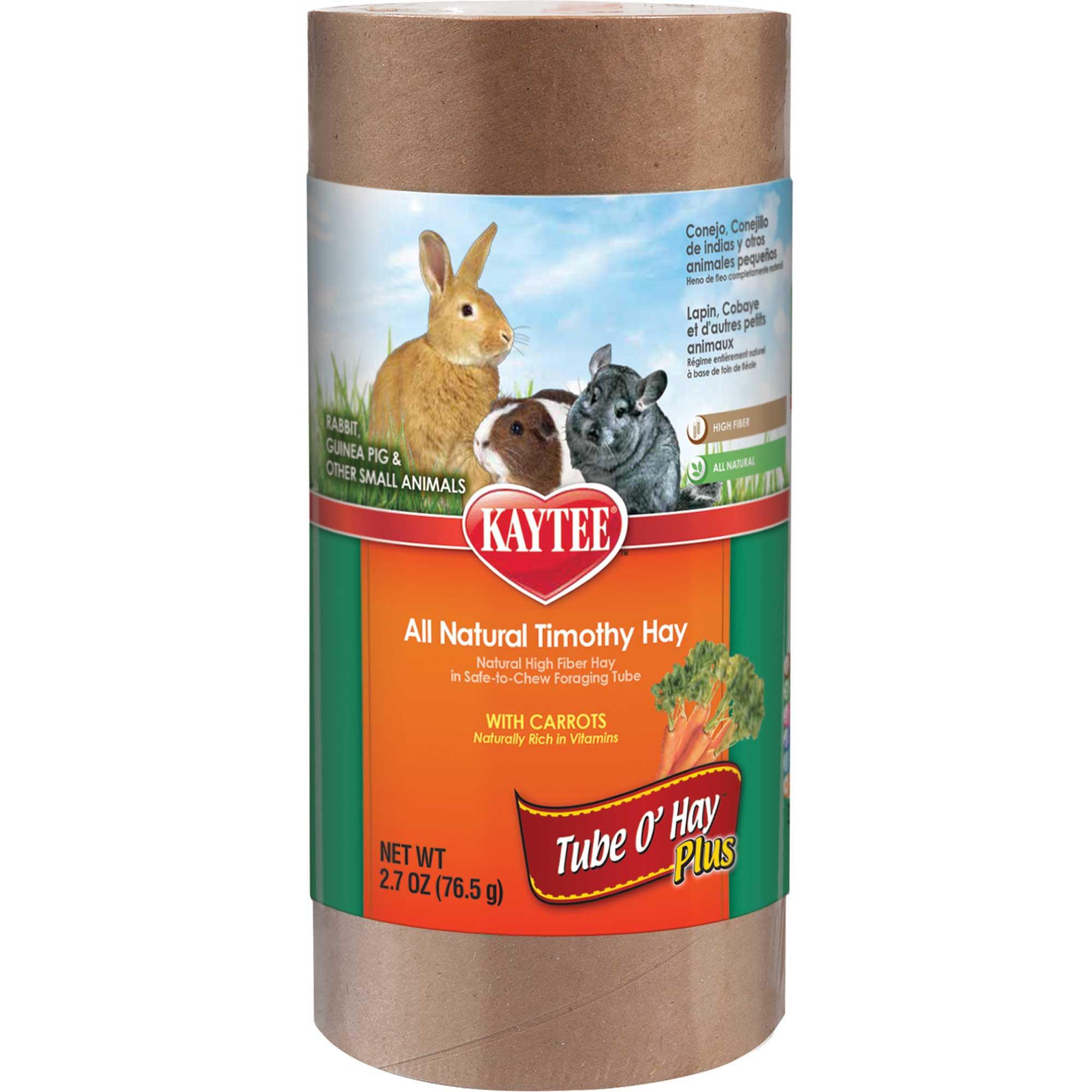 Kaytee Tube O Hay Plus Carrot
