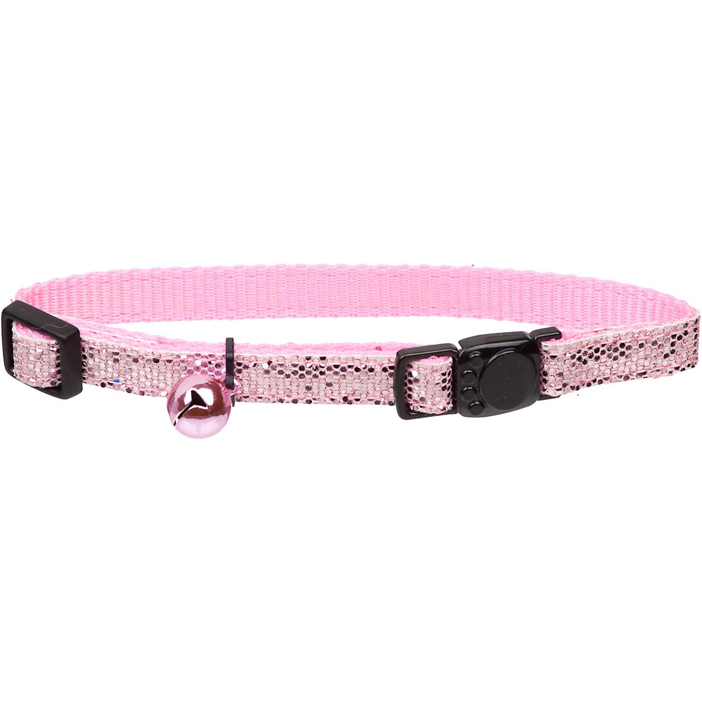Petco Nylon Adjustable Fancy Glitter Cat Collar in Pink