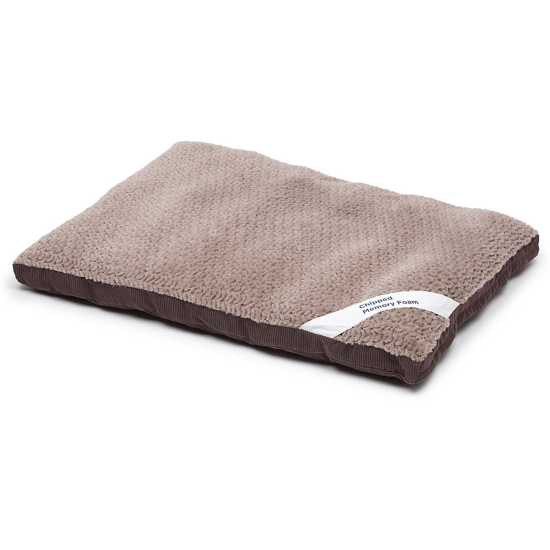 Petco Gray Memory Foam Rectangular Pillow Dog Bed