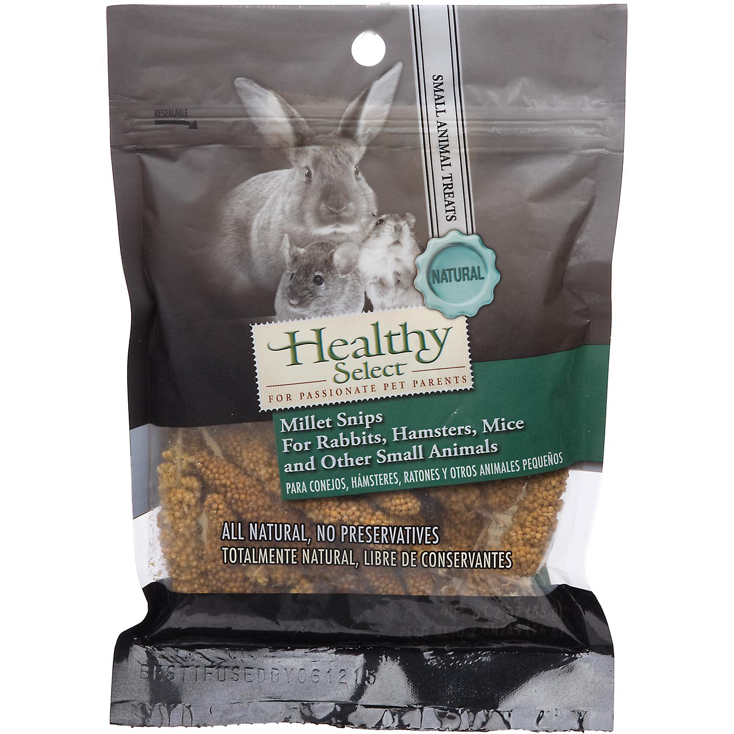 Healthy Select Natural Millet Snips for Small Animals