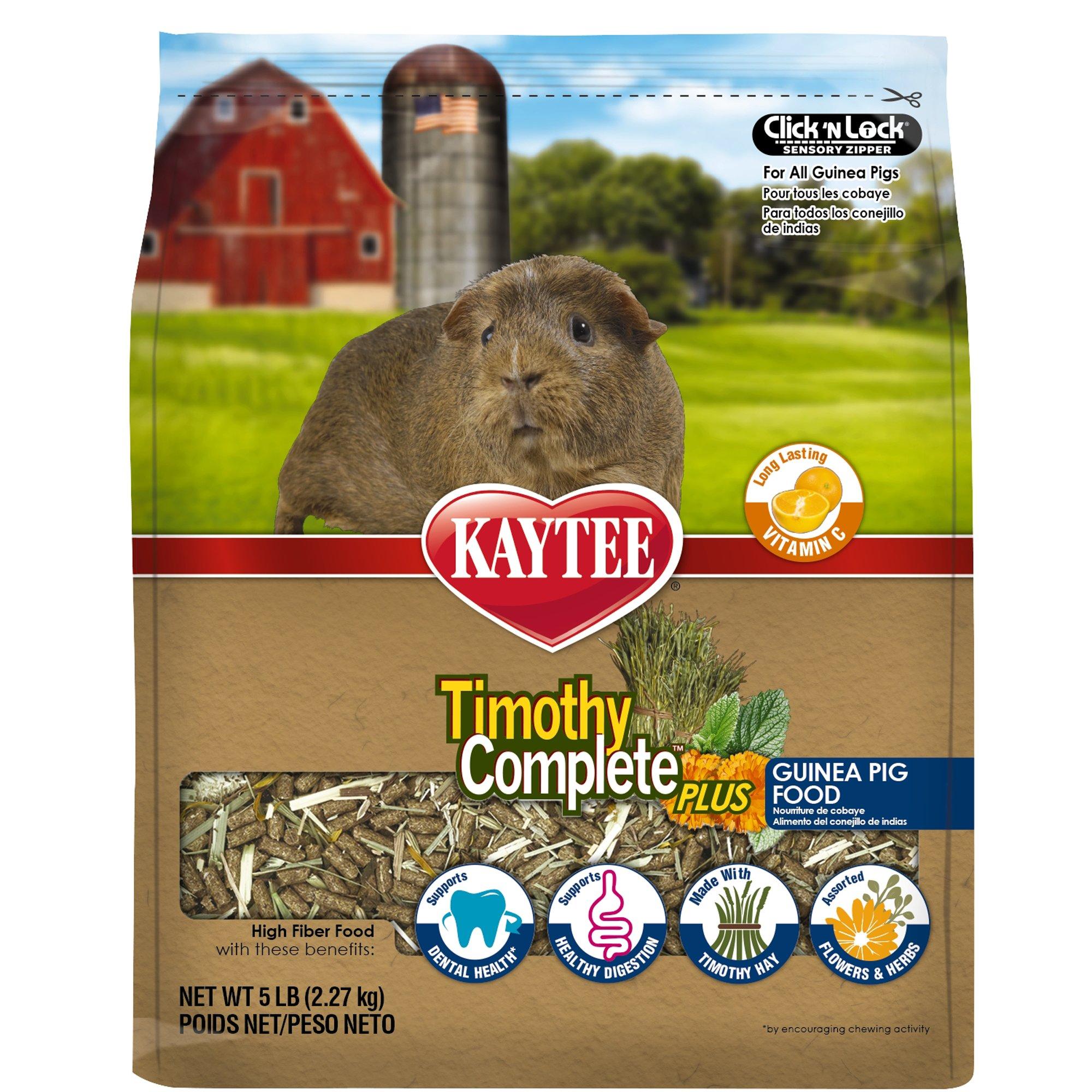Kaytee Timothy Complete Plus Flowers & Herbs Guinea Pig Food