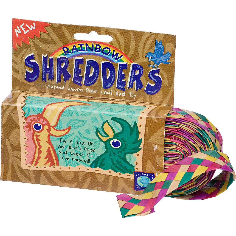 Planet Pleasures Rainbow Shredders Straight Ribbon Bird Toy