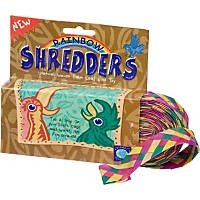 Planet Pleasures Rainbow Shredders Straight Ribbon Bird Toy