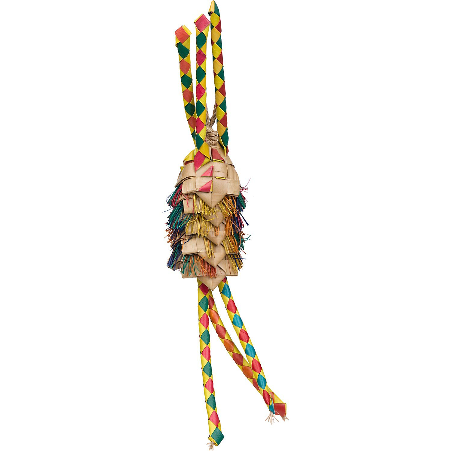 Planet Pleasures Parrot Pinata 5 Layer with Tassels Bird Toy