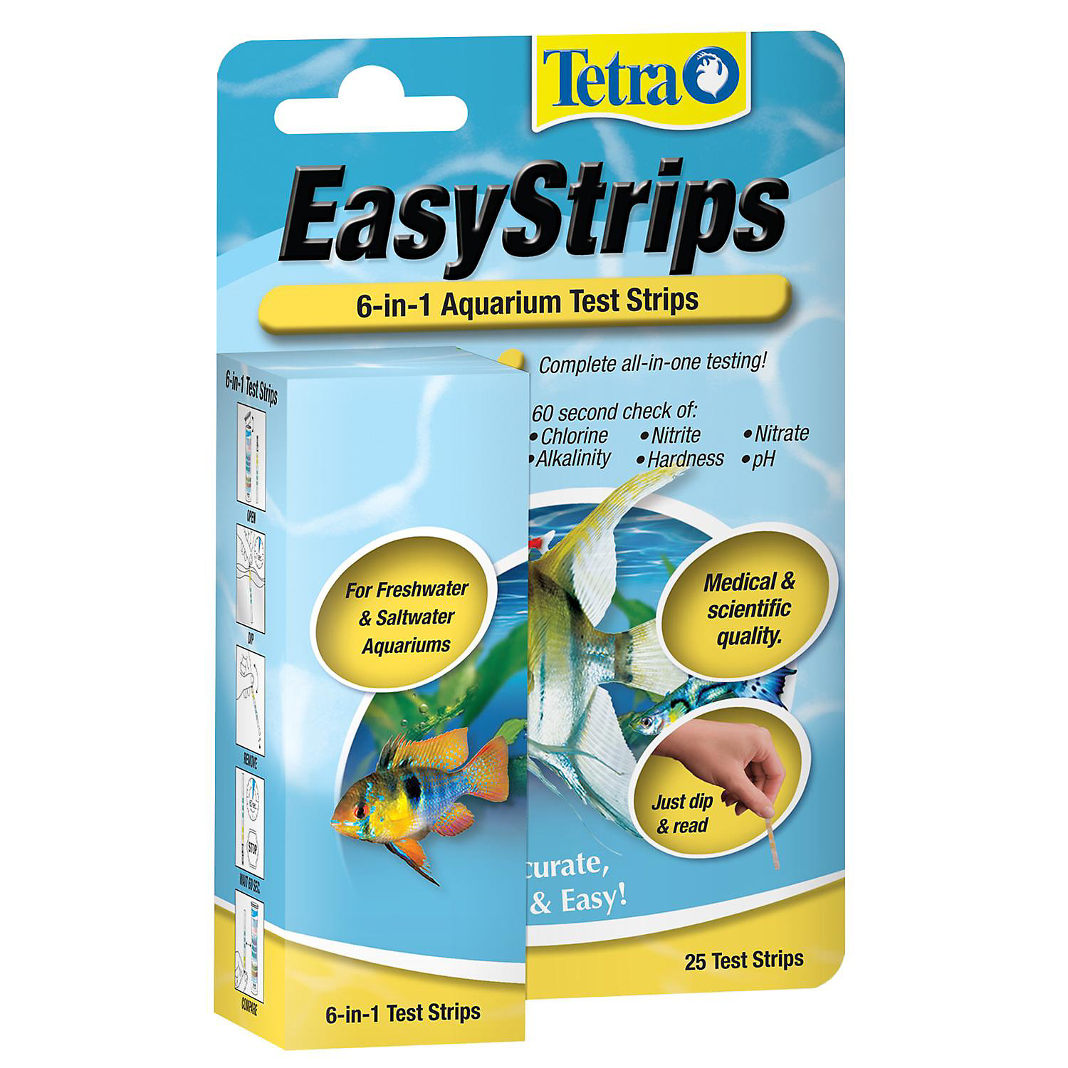Tetra Easystrips 6 In 1 Aquarium Test Strips Pack Of 25 Test Strips