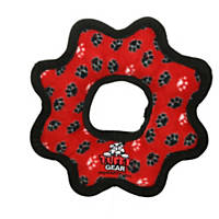VIP Products Tuffy's Red Paw Print Ultimate Gear Ring Tug Dog Toy