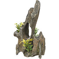 RockGarden Resin Driftwood Pinnacle with Plants
