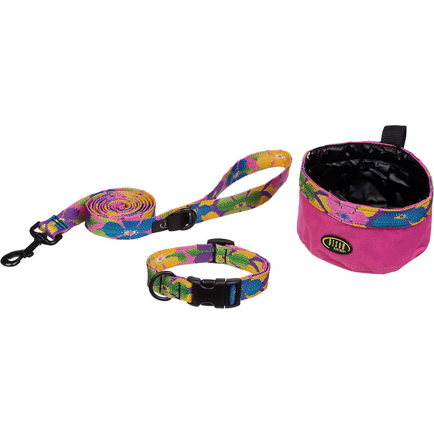 Bison Pet Dog 3-Piece Set in Happy Hawaiian