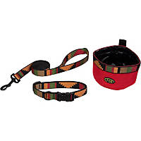 Bison Pet Dog 3-Piece Set in Rasta