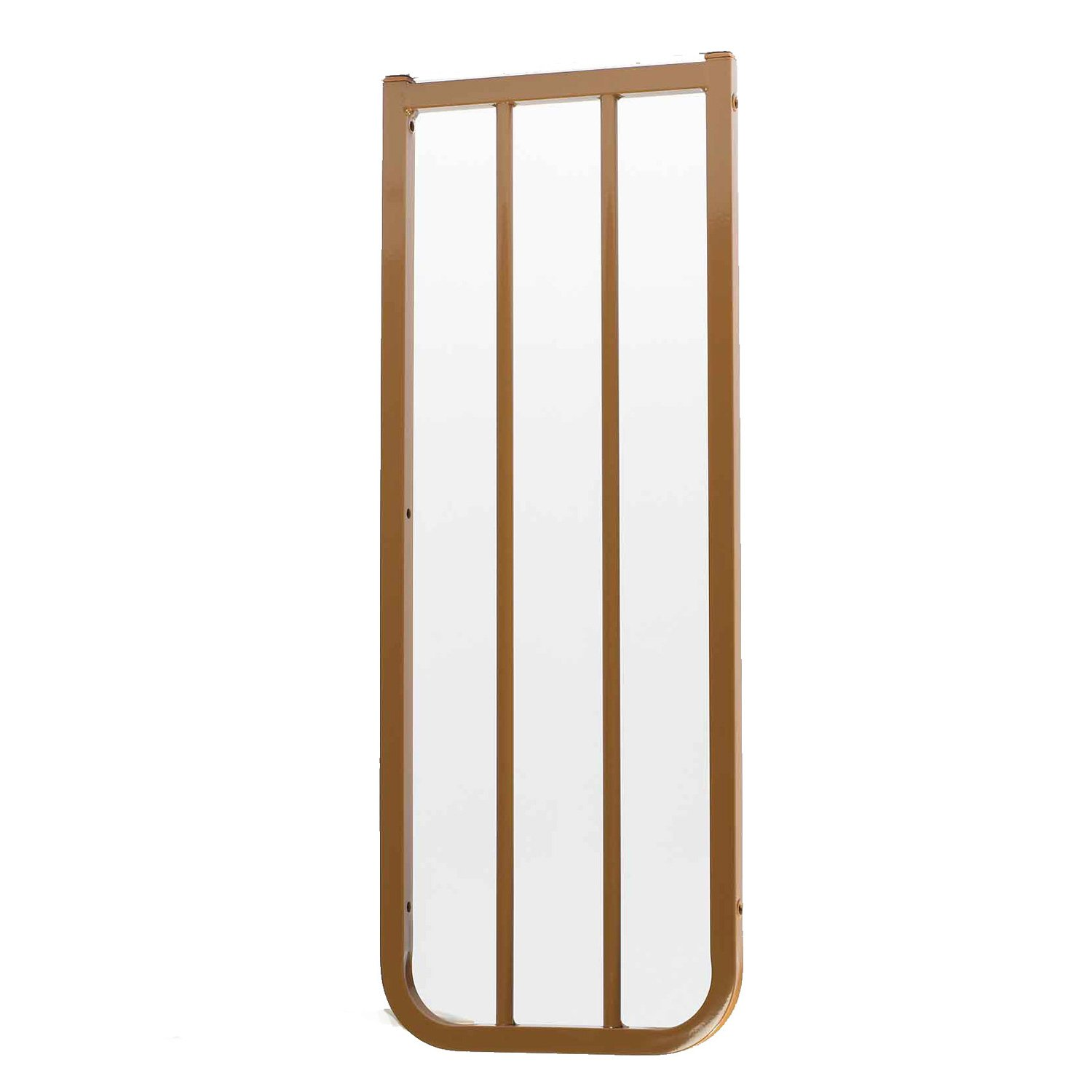 """Cardinal Gates Stairway Special Outdoor 10 1/2"""" Gate Extension in Brown"""