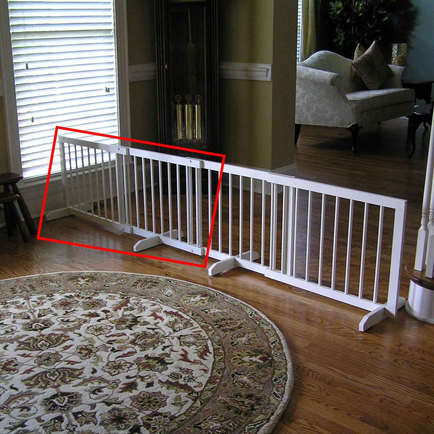 Cardinal Gates White Step-Over Pet Gate Extension