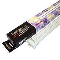 Hamilton Technology Compact 2-in-1 Actinic & Daylight 420nm Blue/10K White Square Pin Aquarium Lamp, 55/65 Watts
