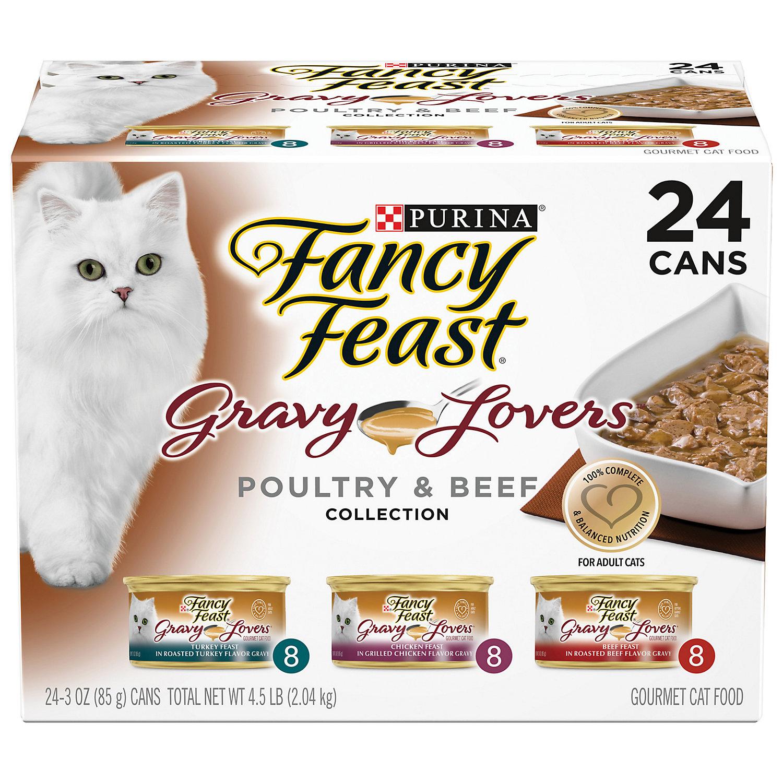 Fancy Feast Gravy Lovers Poultry & Beef Feast Variety Pack A