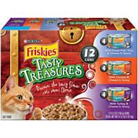 Friskies Tasty Treasures Variety Pack Canned Cat Food
