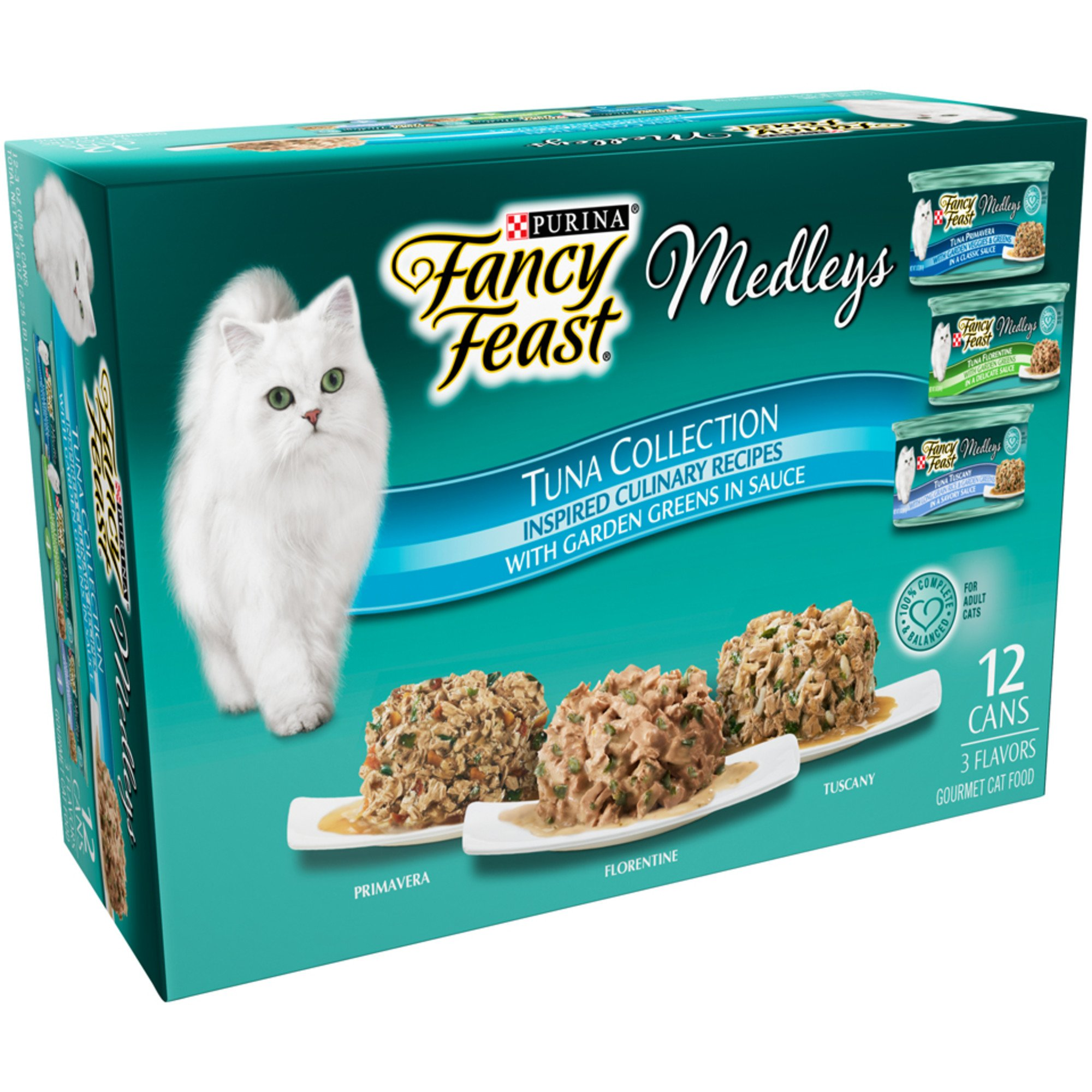 Fancy Feast Elegant Medleys Tuna Recipe Variety Collection Adult Canned Cat Food